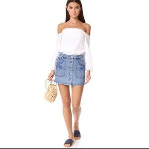 Rebecca Minkoff Rufus Mini Denim Skirt 25